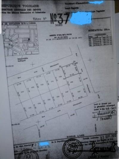 1 lot cloturé avec titre foncier ( centre Aéré BCAO )